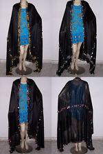 Large Egyptian Folkloric Belly Dance Iskandarani Melaya Laff Leff with Crochet