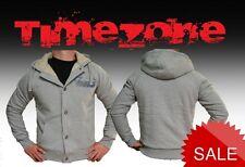 Timezone Herren Sweatjacke Braxton Jacket JKT S M L XL XXL grau Teddyfell Bonded