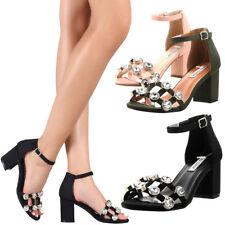 NEW Silver Rhinestone Crystal Open Toe Ankle Strap Womens Dress Sandal Pump Shoe