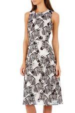 Sugarhill Boutique Black White Liza Zebra Party Midi Dress
