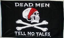 PIRATE 5X3 FEET FLAG Dead men tell no tales Skull & and crossbones Jolly Roger