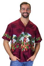 KY's Original Camisa Hawaiana Hula Rojo
