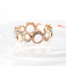 18K Rose Gold Plated Punk Style W/ Swarovski Element Crystal (R713-35)