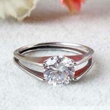 Damen Ring aus Edelstahl mit Zirkonia Stein schlicht und edel cool