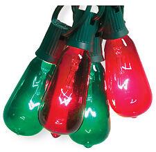 V51597 Christmas String Light Set, Edison Bulb, Green & Red, 10-Ct. - Quantity 1
