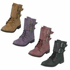 Girls Spot On Buckle Design Boots