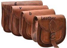 "13"" Women Vintage Brown Charming Leather Messenger Cross Body Bag Handmade Purse"