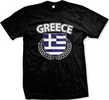 Greece Greek Hellenic Flag Shield Regal Football New Men's T-shirt