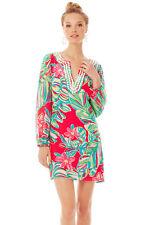 NWT $298 Lilly Pulitzer Saemus Pomegranate Jungle Tumble Beaded Dress