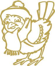 WD0817 oro Aplicación Etiqueta Engomada De Decoración Pollo de Navidad versch.