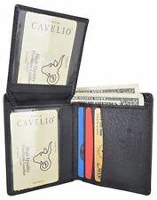 Cavelio Men's Premium Leather L-Shape Bifold Credit Card ID Holder Wallet