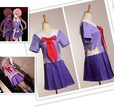 Cosplay Costume Future Diary Mirai Nikki 2nd Gasai Yuno Gasai School Uniform