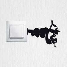 Wandtattoo lustige Schlange Aufkleber Lichtschalter sticker Wandaufkleber