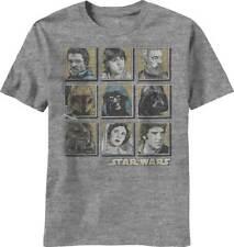 Star Wars Face Wars Mens Heather Grey T-Shirt