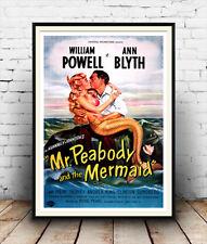 Señor Peabody & la sirena: Vintage Movie publicidad, reproducción de cartel.