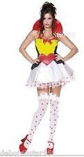 : Sexy Queen of Hearts Alice in Wonderland Fancy Dress Costume 4-6  Teenage