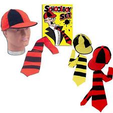 Nueva instantánea Niño Costume Set Colegial Sombrero Y Corbata Kit Stag acercará Fancy Dress
