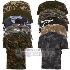 British Army Militar Camuflaje Camiseta Para Hombre De Combate Camuflaje Cadet Algodón Pesca