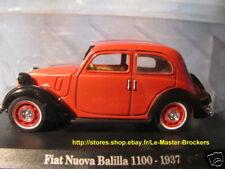 Fiat Nuova Balilla 1100 - 1937 Norev Hachette 1/43 1:43 miniature collection