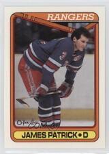 1990-91 O-Pee-Chee #131 James Patrick New York Rangers Hockey Card