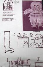 "Vtg Kalico Kastle Cloth Doll Clown pattern 20"" oop"