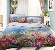 3D Beautiful Flowers 421 Bed Pillowcases Quilt Duvet Cover Set Single Queen CA