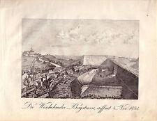 Visegrad Bergstrasse Bosnien-Herzegowina Rep Srpska Orig Kupferstich 1850