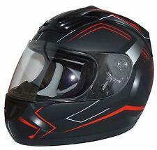 Motorradhelm Integralhelm H510-RT Arrow schwarz/rot mit verschiedenen Visieren