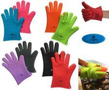 COPPIA di guanti in silicone resistente al calore guanti da cucina barbecue forno cucina Muffole