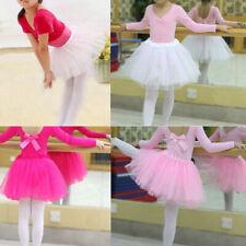 Girls Dance wear Party Costume Multicolor Tulle Tutu Skirt Kid Princess Dressup