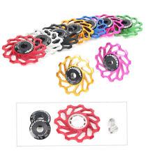1x 11T Mountin Bike MTB Bearing Jockey Wheel Rear Derailleur Pulleys For Shimano