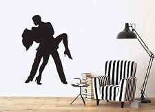 Wall Sticker Vinyl Decal Tango Dancers Samba Rumba Man and Woman Passion (n034)