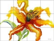 Flower Tile Backsplash Neufeld Abstract Art Ceramic Mural PNA019
