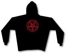 BAPHOMET PENTAGRAM HOODIE SWEATSHIRT black metal satan anton lavey