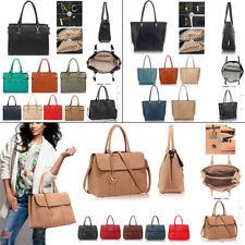 Women Designer Satchel Grab Bags Ladies New Celebrity Style Faux Leather Handbag