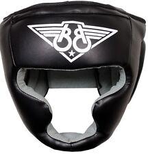 Boom PRIME Neri In Pelle Pugilato Testa Guardia Casco MMA Muay Thai HEAD Protettore