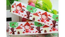 """1"""" Little Red Riding Hood Ruban Imprimé Grosgrain Gâteau Ruban craft 1 M UK"""