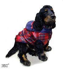 Chaqueta para perro de invierno,Chaqueta transición CUADROS ROJO Y AZUL Dogszone