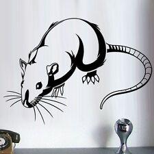 Sticker Décoration Animal Rongeur Rat Mignon, 40x56 cm à 60x84 cm