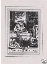 EX LIBRIS BOOKPLATE WALTER BESANT,M.A.