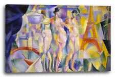 Lein-Wand-Bild Kunstdruck: Robert Delaunay Die Stadt Paris