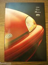 NEW 1995 GEO METRO 27 PAGE DEALER SALES BROCHURE (BOX 446)