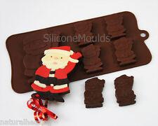 Saludando Santa Navidad Chocolate De Silicona Cookie Pastel Lolly Molde Candy Novedad