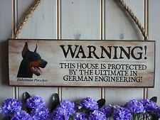PERSONALISED DOBERMAN SIGN WARNING SIGN GATE SIGN HOUSE SIGN DOBERMAN PINSCHER