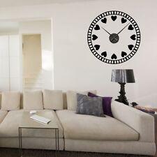 Sticker mural Horloge géante PETITS COEUR AMOUR avec mécanisme aiguilles