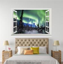 3D Natur Aurora 8 Offen Windows WallPaper Wandbilder Mauer Druck Abziehbild Deco
