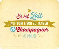 *Mauspad*Mousepad rutschfest Maus Pad mit Design*Champagner trinken..*