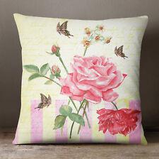S4Sassy jet taie d'oreiller Housse de coussin Floral Print Beige Square
