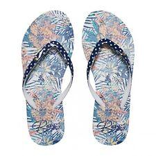 Roxy Portofino Zehentrenner Schuhe Strand mehrfarbig Print Badeschuhe ARJL100551