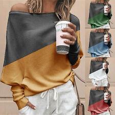 Damen Eine Schulter Pullover Strickpulli Sweater Oberteile Fledermaus Bluse Tops